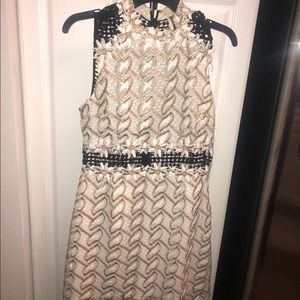 Topshop couture hand stitched dress